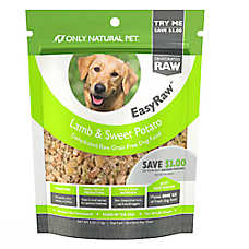Only Natural Pet EasyRaw Dog Food - Raw, Grain Free, Dehydrated, Lamb & Sweet Potato