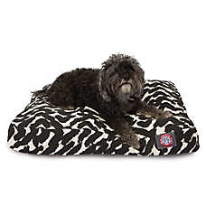 Majestic Pet Brushstrokes Black Dog Bed