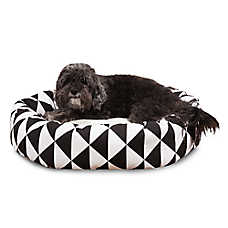 Majestic Pet Triangles Black Sherpa Dog Bed