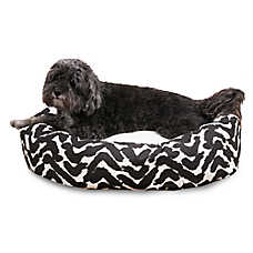 Majestic Pet Brushstrokes Black Sherpa Dog Bed