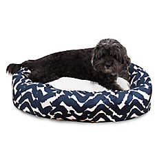 Majestic Pet Brushstrokes Navy Sherpa Dog Bed