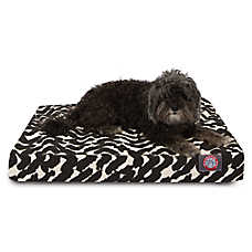 Majestic Pet Burshstrokes Black Orthopedic Memory Foam Dog Bed