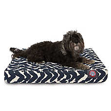 Majestic Pet Burshstrokes Navy Orthopedic Memory Foam Dog Bed