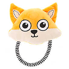 Top Paw® Fox Head Rope Dog Toy