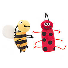 Whisker City® Lady Bug & Bumble Bee 2-Pack Cat Toy