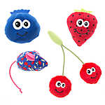 Whisker City® Fruit & Mouse 4-Pack Cat Toy
