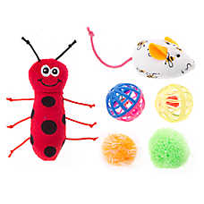 Whisker City® Ladybug & Mouse 6-Pack Cat Toy