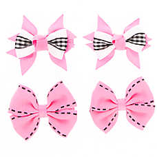 Top Paw® Gingham Hair Bow Set