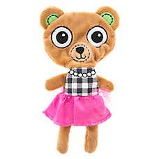 Top Paw® Flattie Bear Dog Toy - Plush, Squeaker