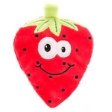 Top Paw® Flattie Strawberry Dog Toy