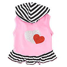Top Paw® Glitter Heart Hoodie Dress