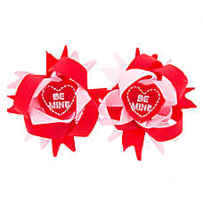 """Top Paw® Valentine's """"Be Mine"""" Hair Bows"""