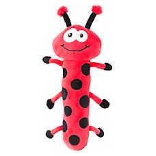 Top Paw® Longbody Plush Ladybug Dog Toy