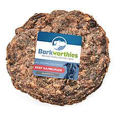 Barkworthies Beef Hamburger Dog Treat - Natural