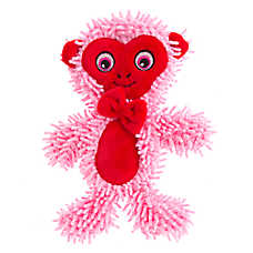 Top Paw® Valentine's Flattie Monkey Dog Toy