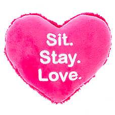 "Grreat Choice® Valentine's ""Sit Stay Love"" Heart Dog Toy"