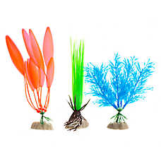 GloFish® Blue and Orange Aquarium Plant Variety Pack