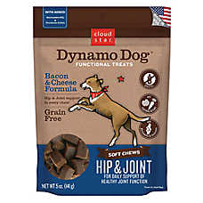 Cloud Star® Dynamo Dog® Hip & Joint Dog Chew - Grain Free, Bacon & Cheese