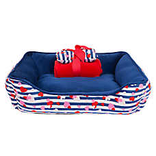 Top Paw® Gift Set Hearts Cuddler Dog Bed