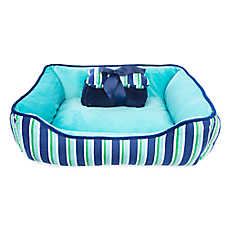Top Paw® Gift Set Stripe Cuddler Dog Bed