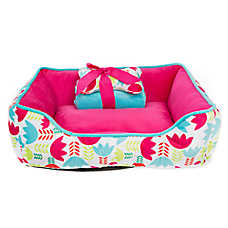 Top Paw® Gift Set Tulip Cuddler Dog Bed