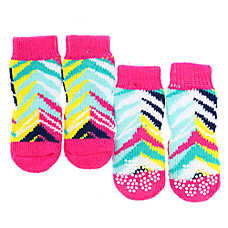 Top Paw® Chevron Dog Socks w/ Rubberized Grips