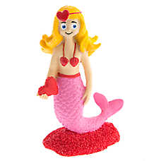 Top Fin® Valentine's Day Mermaid Aquarium Ornament