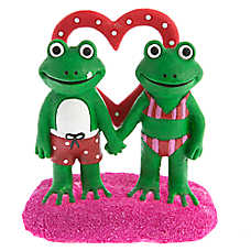 Top Fin® Valentine's Day Love Frogs Aquarium Ornament