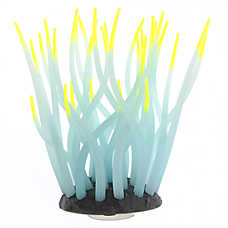GloFish® White Anemone with Yellow Tips Aquarium Ornament