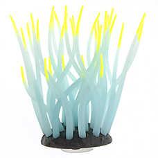 GloFish® White Anemone with Yellow Tips Aquarium Ornament