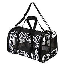 Whisker City® Zebra Soft Sided Cat Carrier
