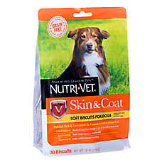 Nutri-Vet Skin & Coat Dog Treat - Natural, Grain Free