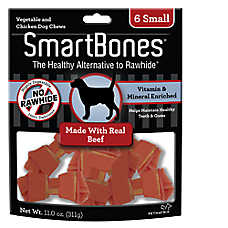 SmartBones® Small Chews Dog Treat - Beef