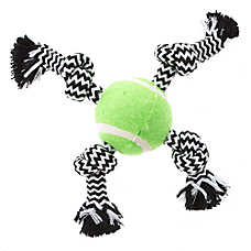 Top Paw® 4 Rope Knot Tennis Ball Dog Toy