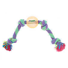 Top Paw® Active 4 Knot Rope 1 Ball Dog Toy