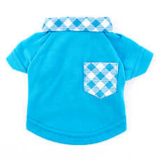 Top Paw® Gingham Collar Polo Dog Tee