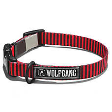Wolfgang Man & Beast VertDash Salmon Dog Collar