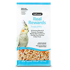 ZuPreem® Real Rewards Tropical Mix Medium Bird Treats