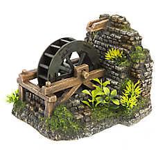 Top Fin® Water Wheel with Plants Bubbler Aquarium Ornament