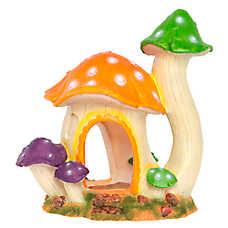 Top Fin® Mushroom Hut Aquarium Ornament