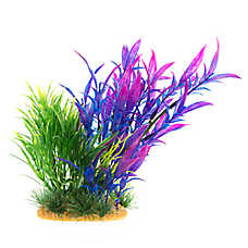 Top Fin® Purple and Green Landscape Artificial Aquarium Plant