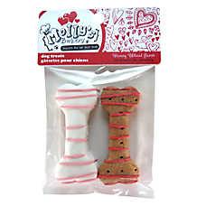 Molly's Barkery Valentine's Dipped Bones Small Dog Treat - Honey Wheat