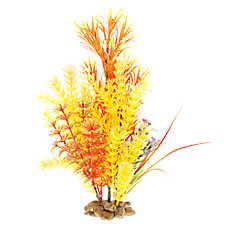 Top Fin® Orange Rock Base Aquarium Plant
