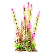 Top Fin® Tall Green & Pink Aquarium Plant