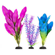 Top Fin® Purple and Blue Silk Aquarium Plant Variety Pack