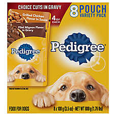 PEDIGREE® Adult Dog Food - Variety Pack, 8ct, Filet Mignon & Chicken