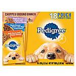 PEDIGREE® Adult Dog Food - Chopped Ground Dinner, Variety Pack, 18ct