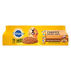 PEDIGREE® Adult Dog Food - Chopped/Chunky Ground Dinner Variety Pack, 12ct
