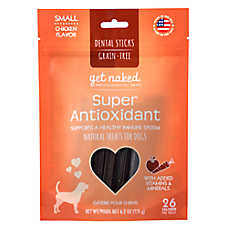 Get Naked Super Antioxidant Small Dog Dental Treat - Natural, Grain Free, Chicken