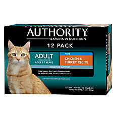 Authority® Sensitive Support Adult Cat Food - Chicken & Turkey, 12ct